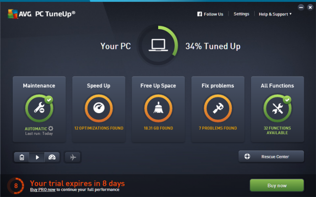 AVG PC TuneUp 2017 Crack + Keygen Full Free Download