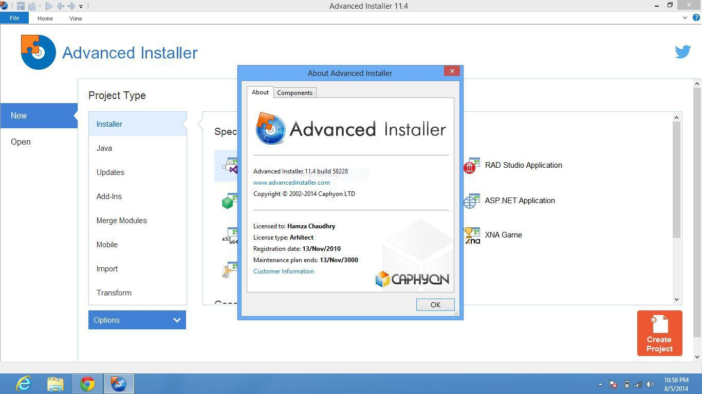 Advanced Installer Architect 13.8 + Crack & Patch Full