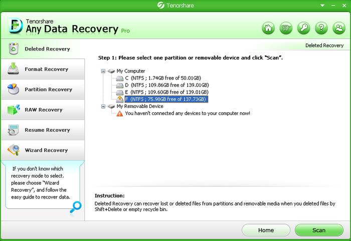 Tenorshare Any Data Recovery Pro 6.3 Crack & Serial Key Full