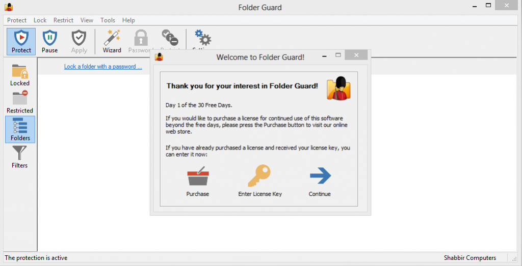 download folder guard with serial key