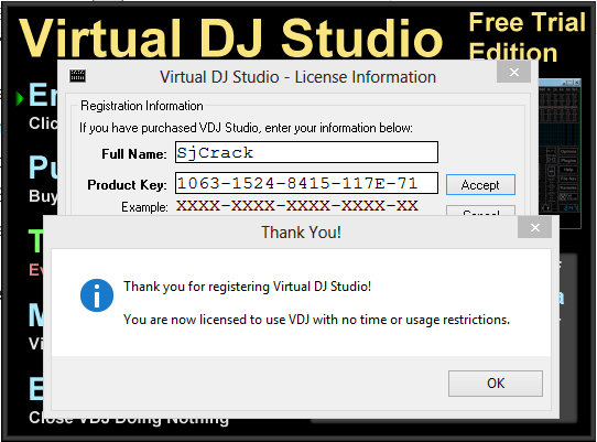 Virtual DJ Studio 7.7.7 Crack + Serial Key 2017 [Upgraded]