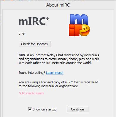 mIRC 7.48 Crack Incl Registration Code Free Download